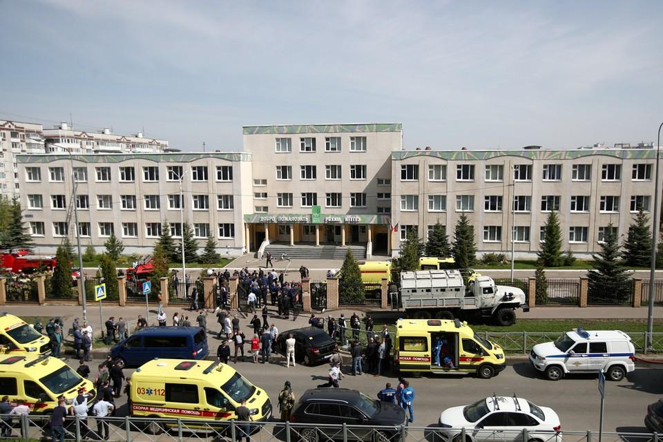 Следственный комитет возбудил уголовное дело после стрельбы в казанской школе. Фото: АЛЕЕВ Егор/ТАСС