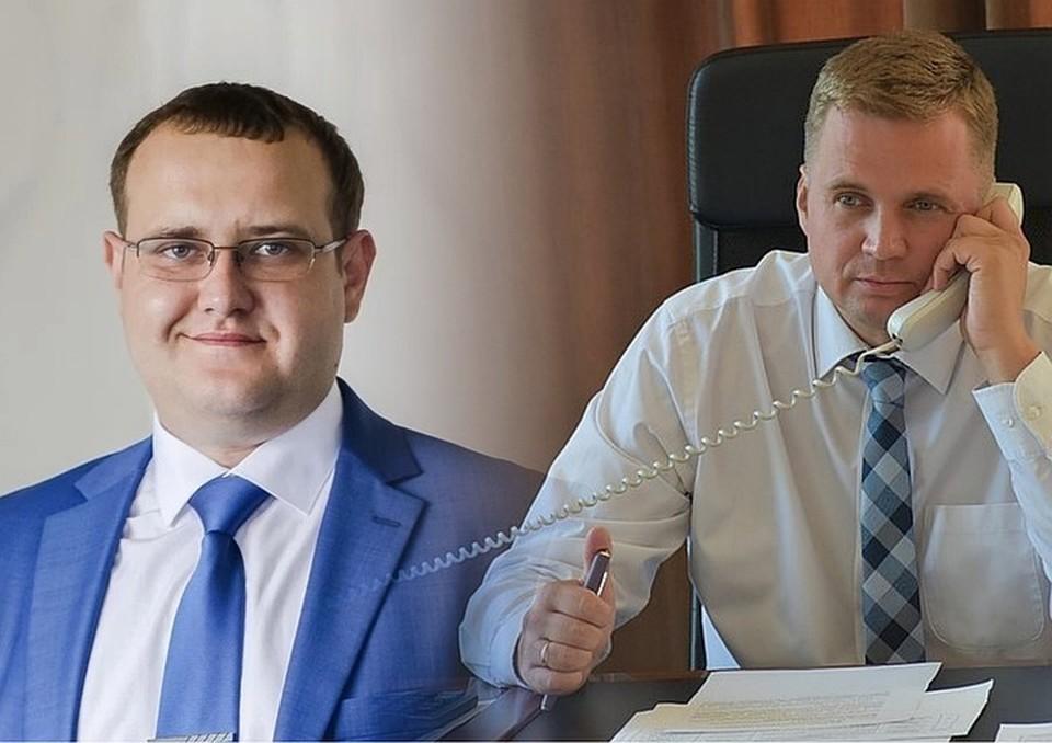 Вадим Герман (слева) пошел на сделку со следствием, подчиненные Александра Виноградова (справа) заявили, что он действовал в интересах жителей. Фото: администрация Троицка