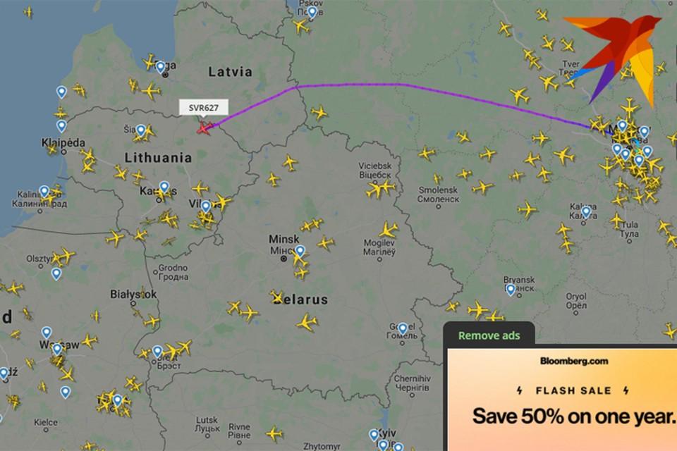 Лететь над Беларусью отказалась российская авиакомпания?