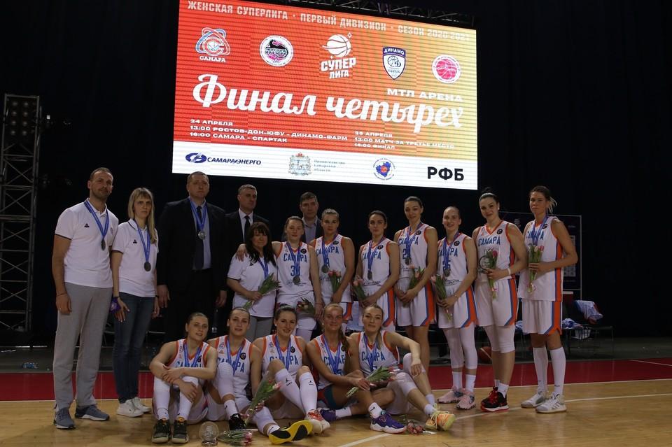 Женская «Самара» в этом сезоне взяла серебро Суперлиги-1. Фото: БК «Самара».