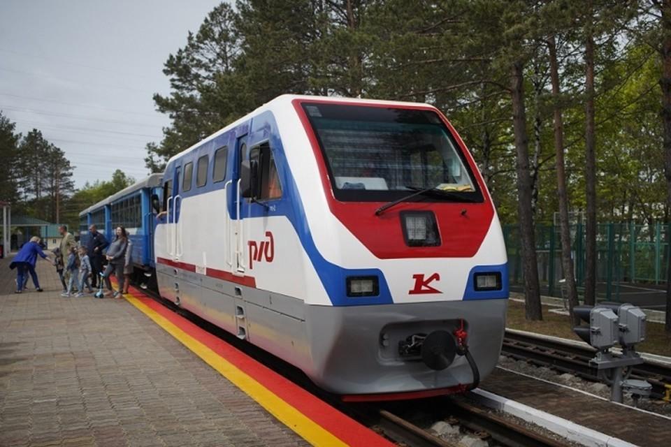 Детская железная дорога снова заработала в Хабаровском крае