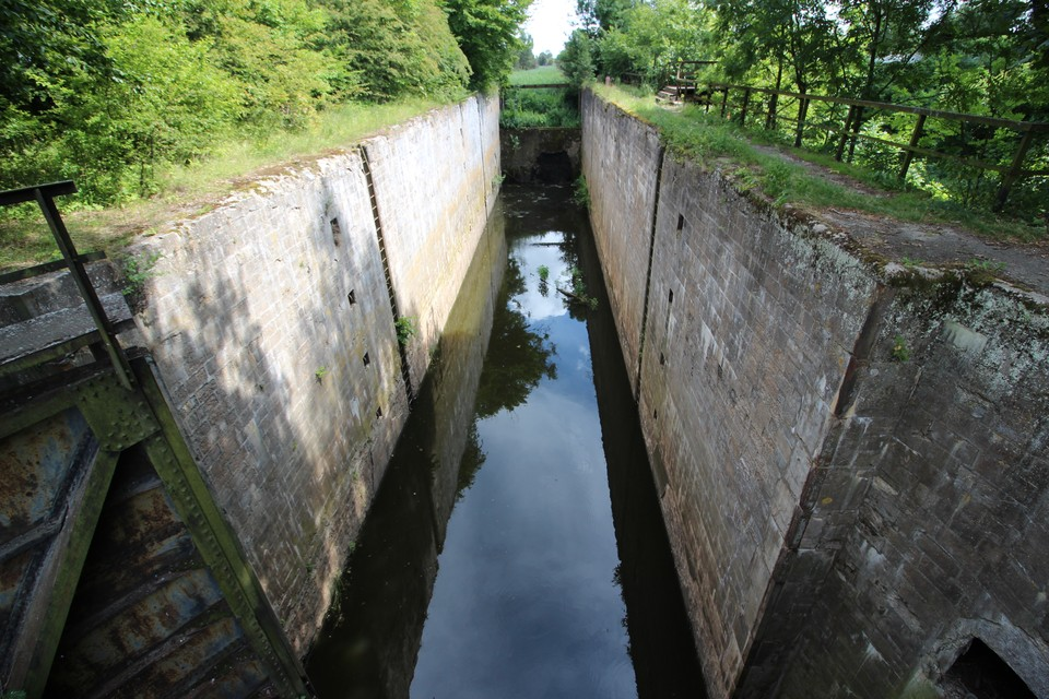 Шлюз Мазурского канала в поселке Дружба