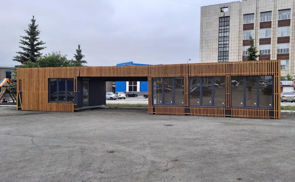 Сейчас демонтированный торговый павильон находится возле дома №20 по улице Чайковского. Фото: читатель КП-Челябинск