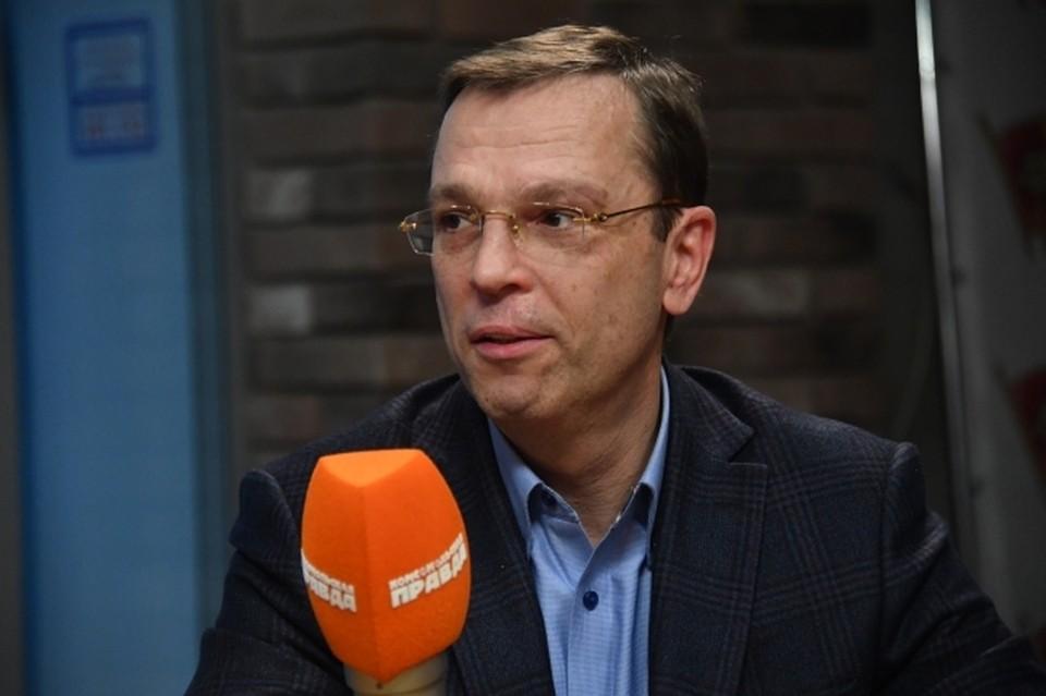 """Никита Кричевский в студии радио """"Комсомольская правда"""""""