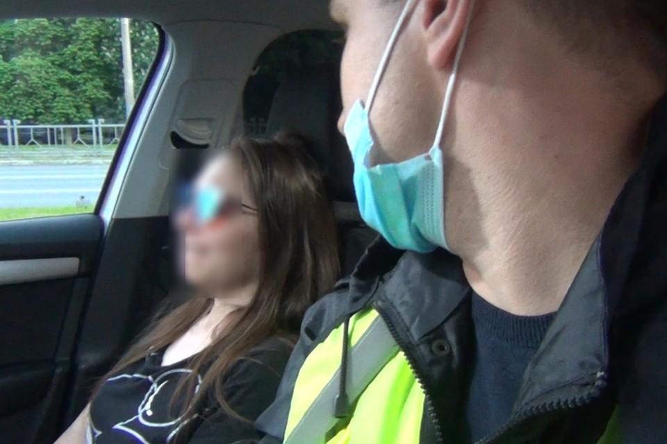 В Брянске пьяная автомобилистка едва не сбила женщину с ребенком. Фото: ОГИБДД по городу Брянску.