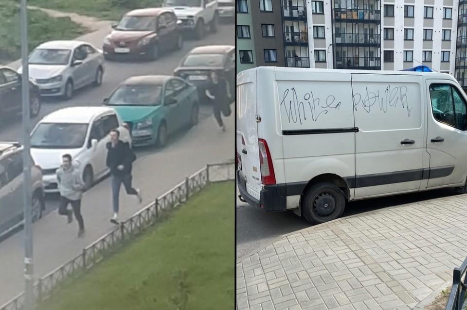 В Петербурге хулиганы разгромили кучу припаркованных автомобилей у одного из ЖК. Фото: vk.com/zhk_shuvalovskij