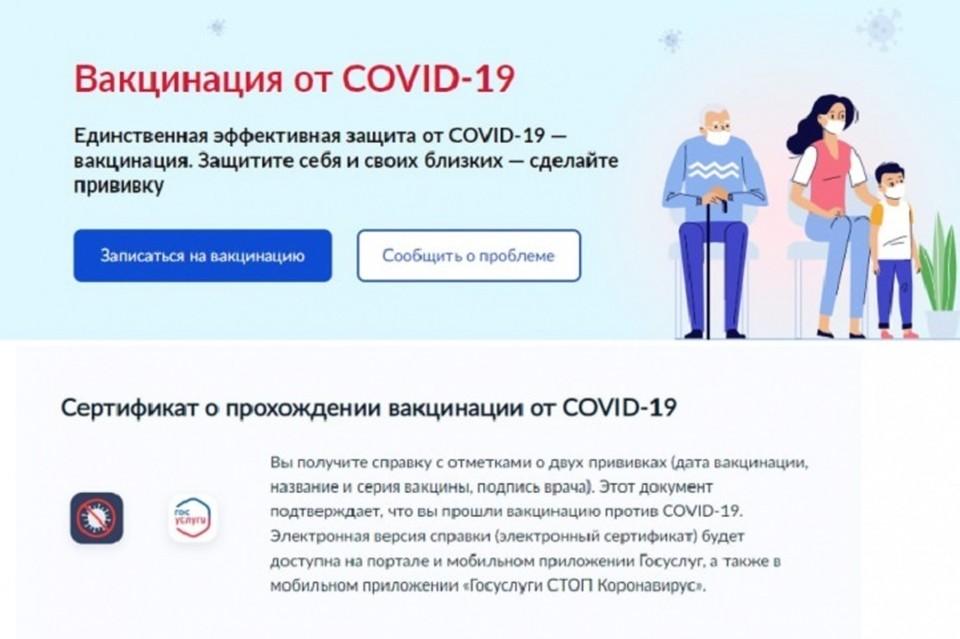 Привитые от ковида жители Хабаровского края могут получить сертификат в электронном виде