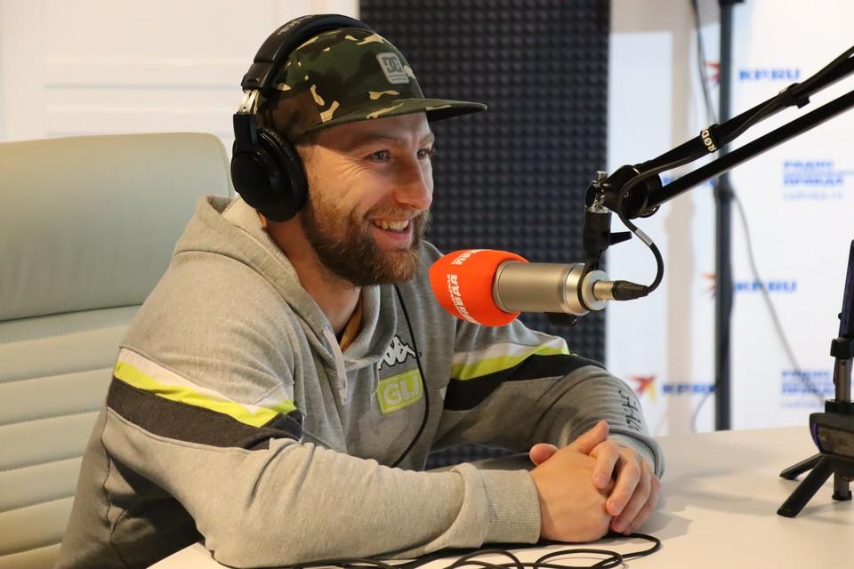Председатель «Сахалинского клуба экстремального велоспорта» Игорь Балла в студии радио «КП-Сахалин»