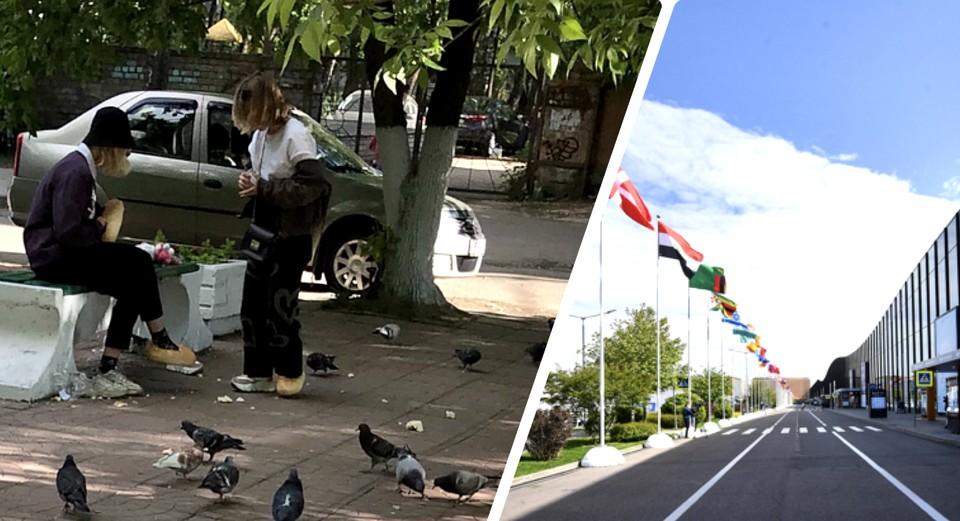 В Питере -форум, а в Твери - батоны на ногах. Фото: ПТО; VK/tverlife