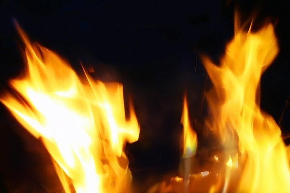 Предварительная причина пожара - неосторожное обращение с огнем.