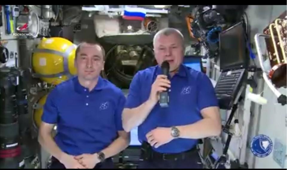 Космонавты Петр Дубров и Олег Новицкий. Фото: кадр видео simadm.ru