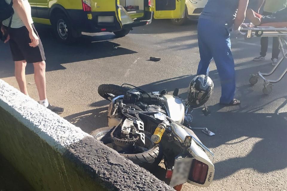 В результате ДТП пострадал мотоциклист Фото: vk.com/udmurtiya18rus