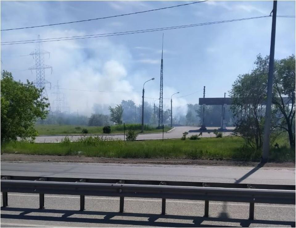 В Челябинске природные пожары. Фото: читатель КП