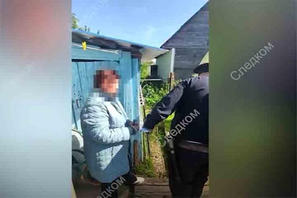 Подозреваемую в убийстве зятя смолянку взяли под стражу. Фото: скриншот видео оперативной съемки СУ СК России по Смоленской области.