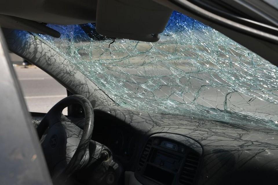 Автомобиль пострадал из-за ДТП с косулей.