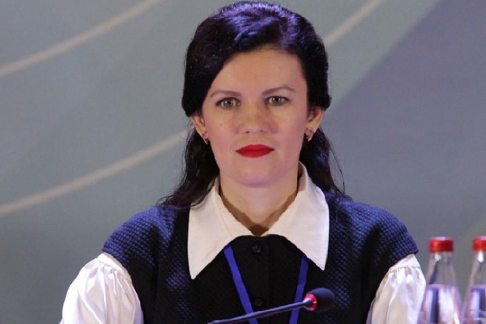 Представитель Донецкой Народной Республики в подгруппе по политическим вопросам Наталья Михайлова. Фото: ЛИЦ