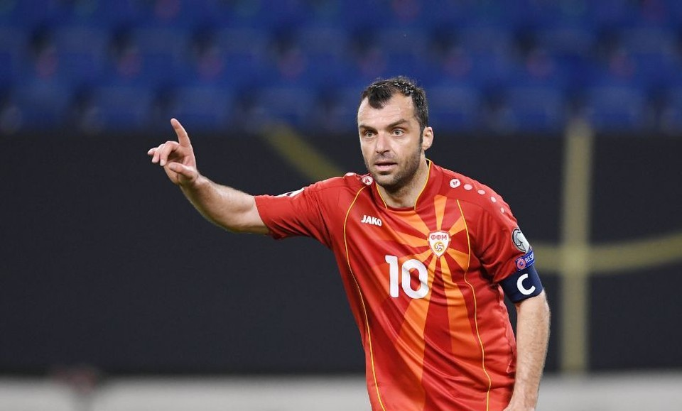 Горан Пандев забил единственный гол своей команды австрийцам. Фото: Global Look Press