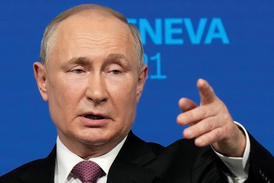 Владимир Путин провел пресс-конференцию по итогам встречи с американским лидером Джо Байденом в Женеве