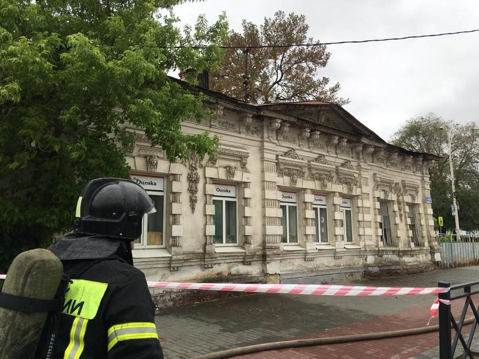 Памятник серьезно пострадал после пожара