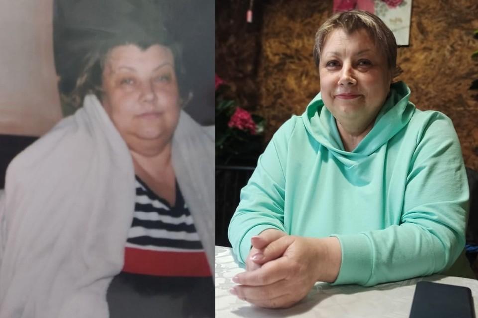 Оксана три года назад весила около 150 кг (слева), потом набрала 190 кг и похудела до 140 кг за четыре месяца (справа). Фото: предоставлены героем публикации // Никита Манько