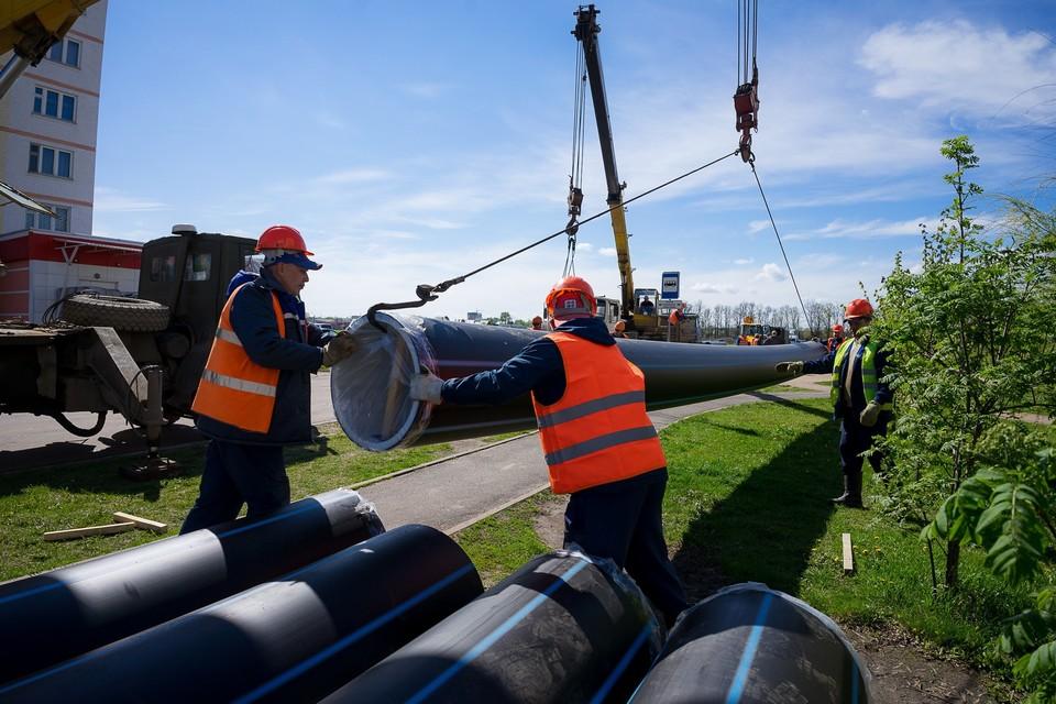 В Орле продолжается строительство водопровода от Авиационной до Генерала Родина