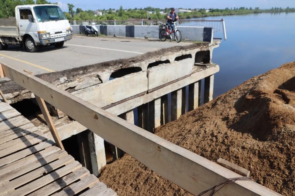Всего в регионе повреждено 7 мостов Фото: Правительство Амурской области