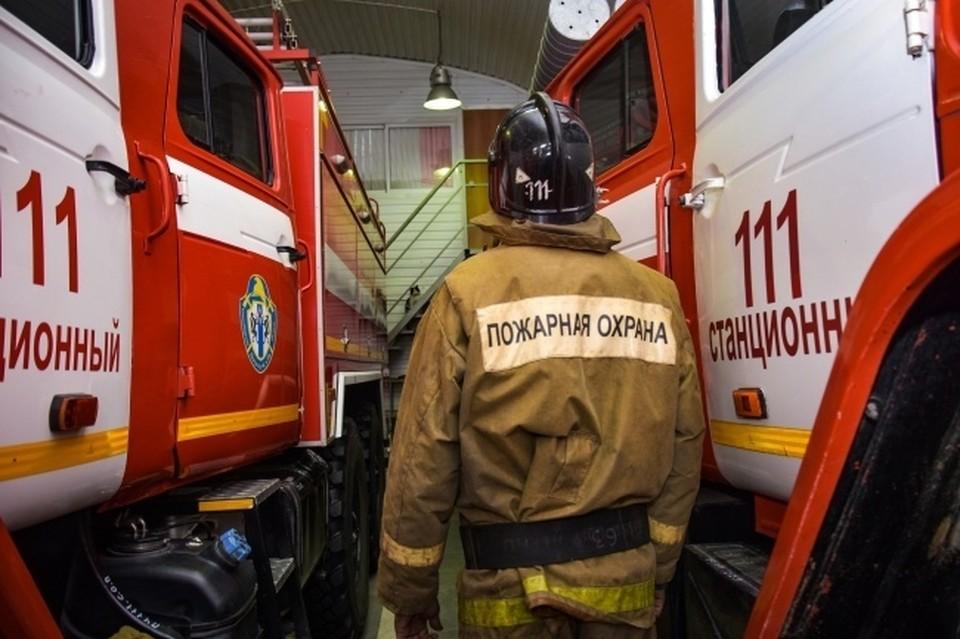 В Новосибирске произошел пожар в бизнес-центре в Железнодорожном районе.