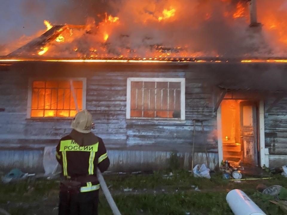 Пожар в Гороховецком районе. Фото с сайта ГУ МЧС по Владимирской области