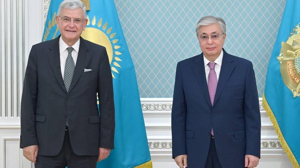 Волкан Бозкыр и Касым-Жомарт Токаев