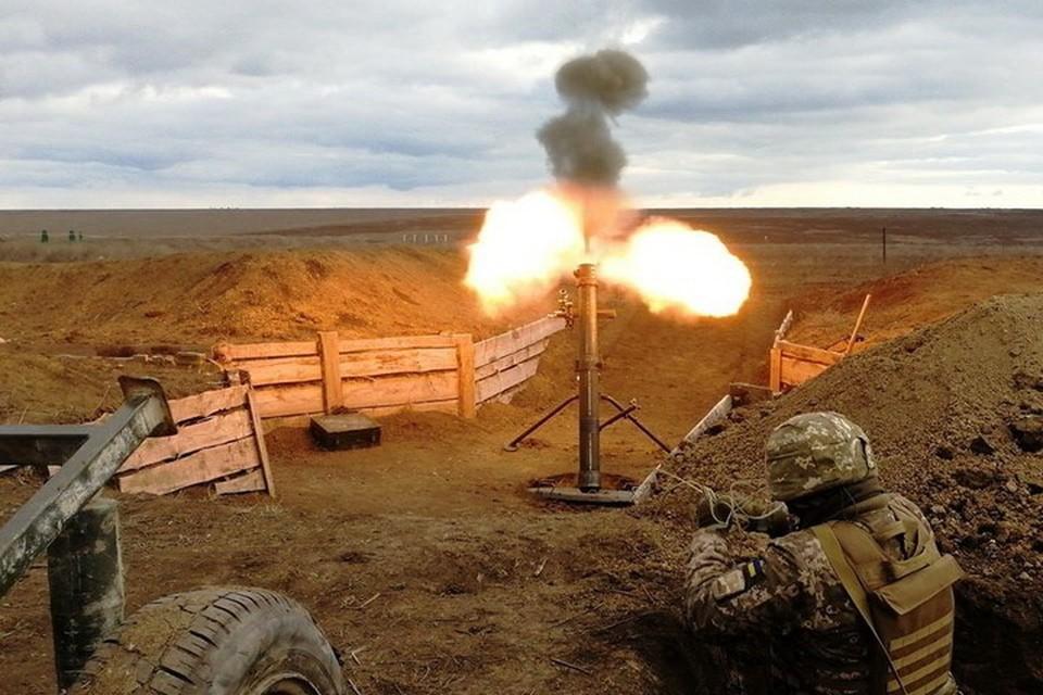 Огонь по окраине Донецка велся минометов. Фото: Пресс-центр штаба ООС