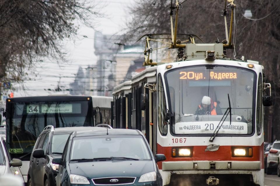 В Самаре останавливалось движение трамваев