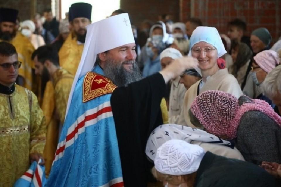 Службу провел митрополит Евгений Кульберг. Фото: пресс-служба Екатеринбургской епархии