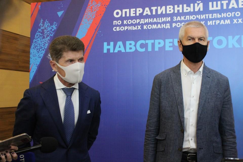 Министр спорта России приехал во Владивосток пообщаться с олимпийцами, которые проходят здесь акклиматизацию.