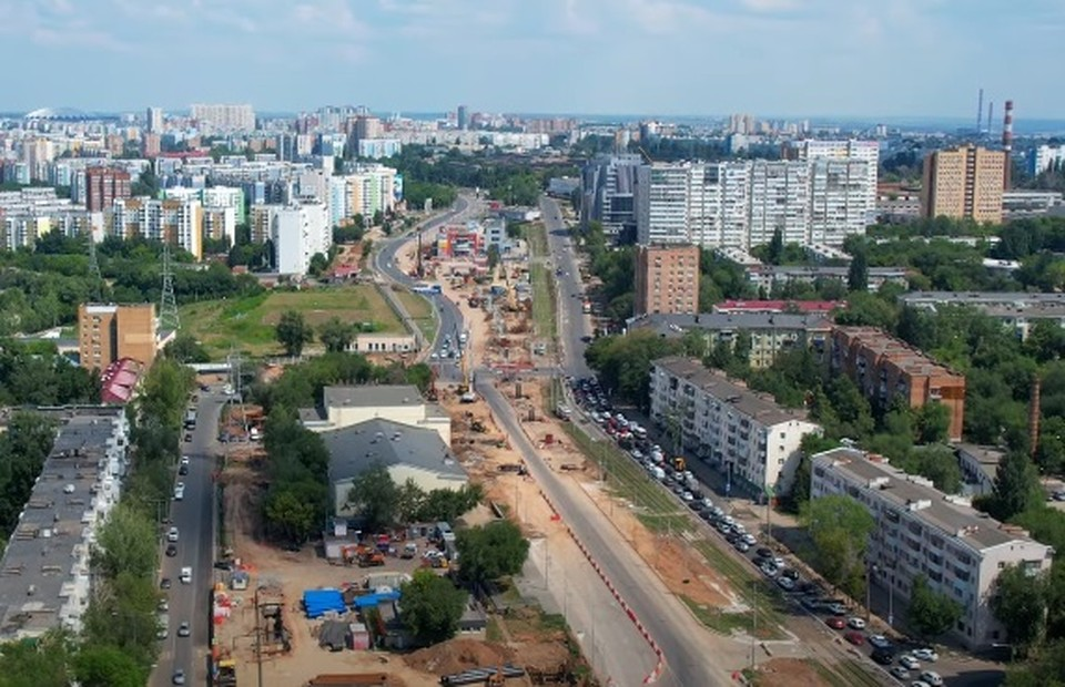 "В Самаре строят крупную развязку около ""Современника"". Фото - скриншот"