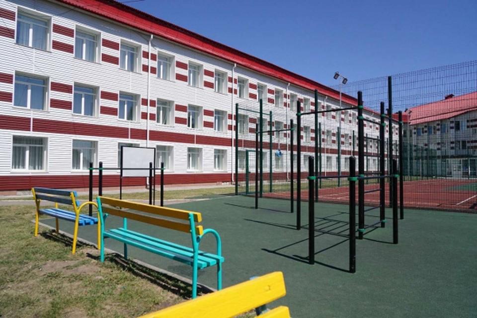 В селе Исаклы отремонтировали здание интерната и сделали спортивную площадку