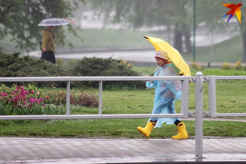 14 июля ливень и гроза в Минске были сильными.