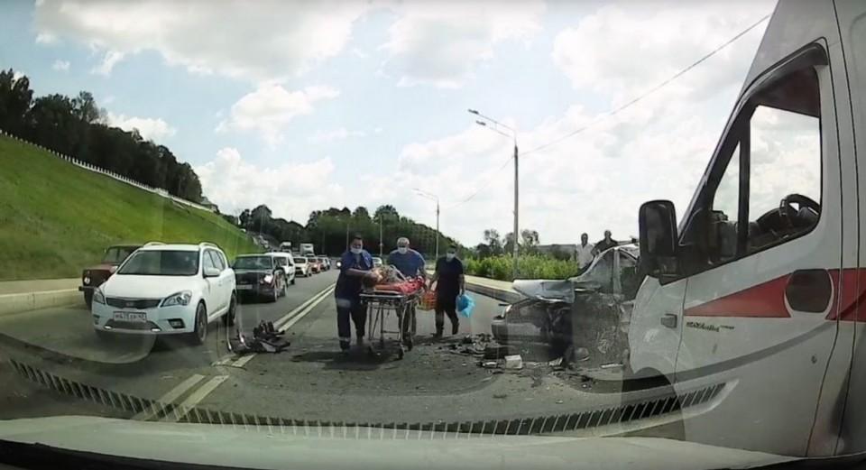 Авария на улице Набережной