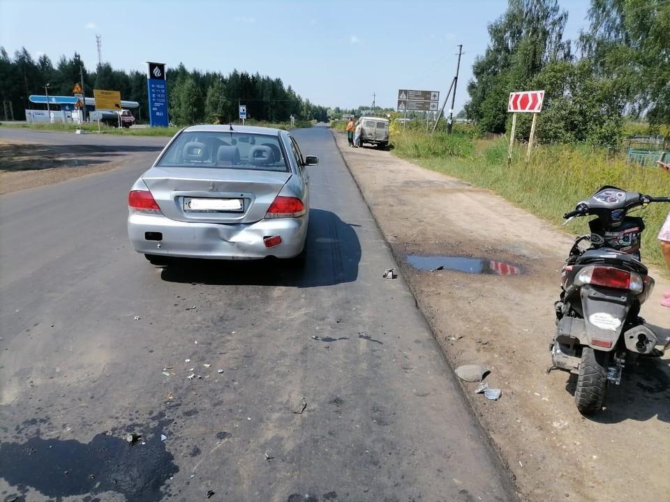 Скутер поместили на спецстоянку Фото: УГИБДД России по Тверской области