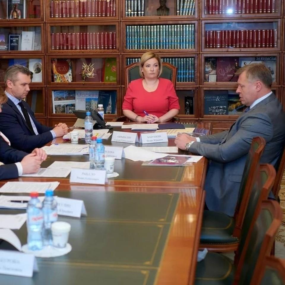 Губернатор Астраханской области обсудил с Министром культуры Российской Федерации вопросы реализации нацпроекта «Культура»