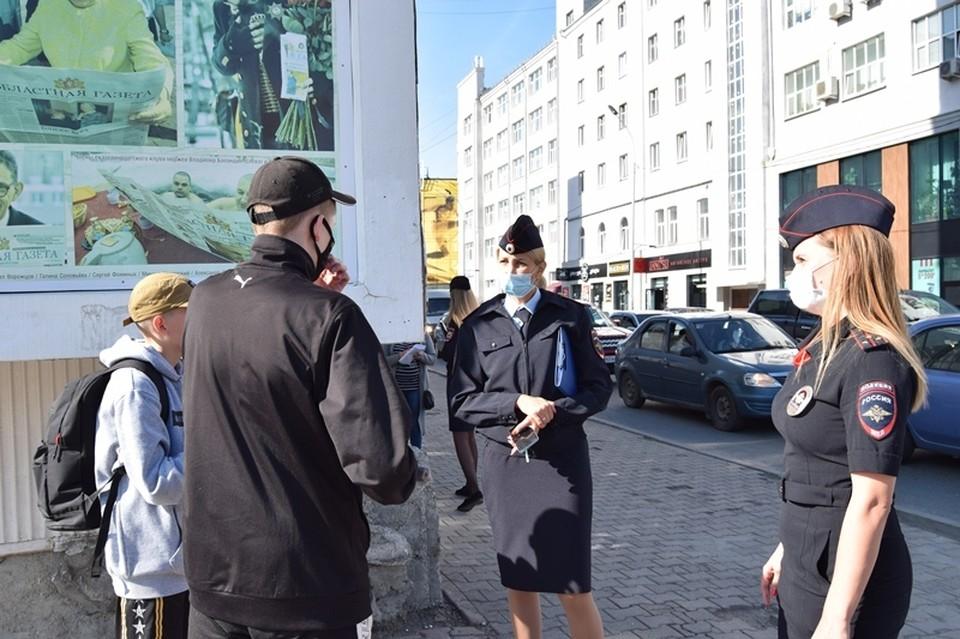 Нарушителей в центре Екатеринбурга немало. Фото: пресс-группа УМВД по Екатеринбургу