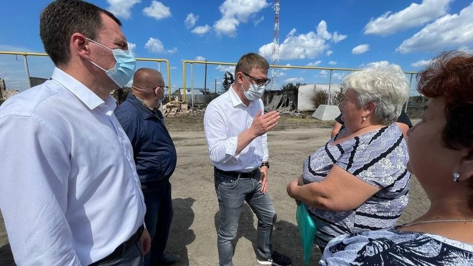 Жители попросили губернатора построить ФОК.