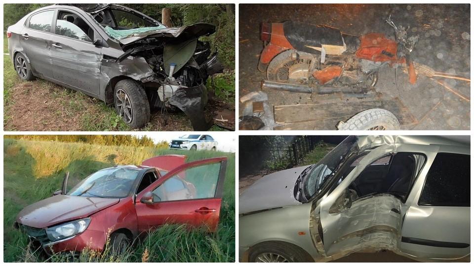 Обзор самых страшных аварий на дорогах Удмуртии за неделю
