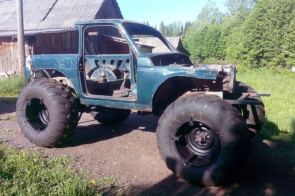 Александр Зубарев из поселка Юбилейный работал над создание авто два года. Фото: предоставлено героем публикации