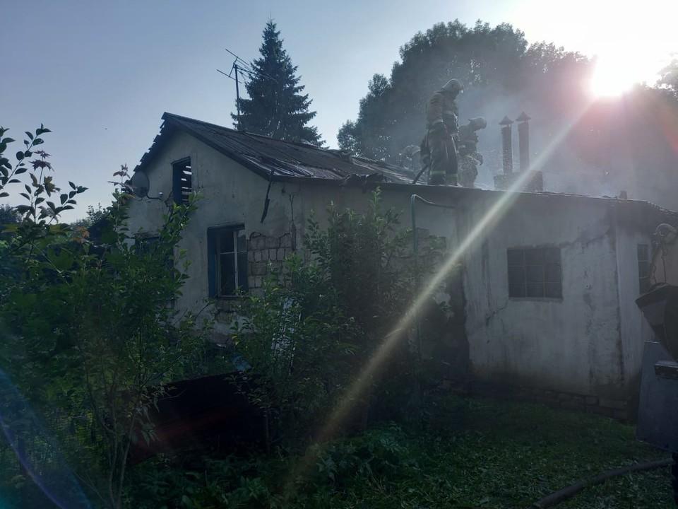 20 июля 2021 года в деревне Ловчиково Глазуновского района произошел пожар. Фото: ГУ МЧС России по Орловской области