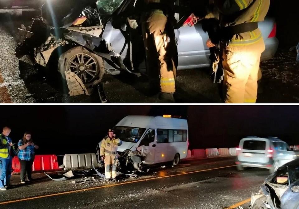 Водитель погиб, пассажиры получили травмы. Фото: Каслинский пожарно-спасательный гарнизон