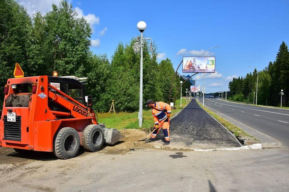 В Ханты-Мансийске расширяют сеть велодорожек Фото: Городской информационный центр