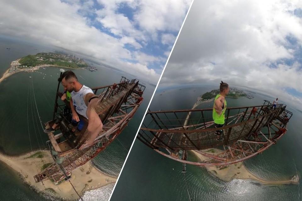 Бейсеры незадолго до прыжка. Фото: Инстаграм @extreme_activity / @droprope_khv