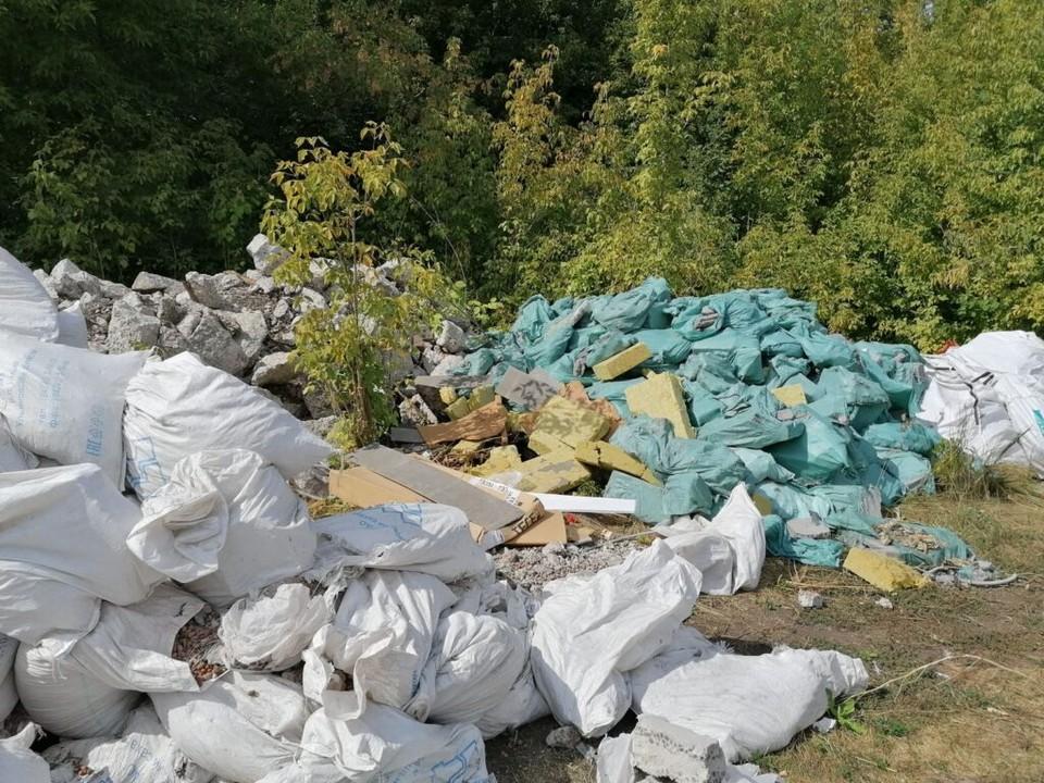 В Самаре нашли незаконную свалку. Фото - ЭкоСтройРесурс