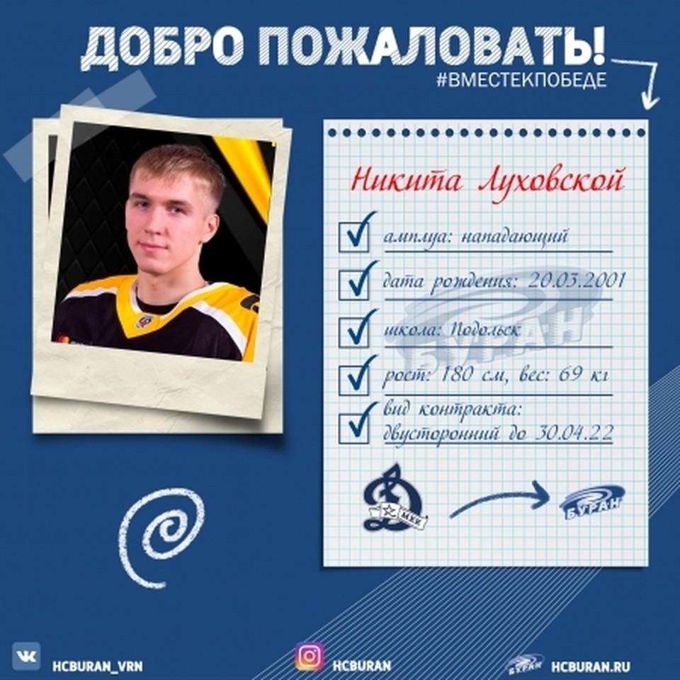 """Никита Луховской на один сезон стал """"ураганным""""."""