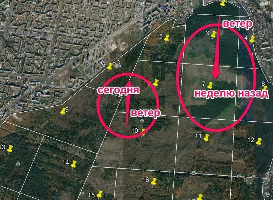 Жители составили карту поджогов. Фото: https://vk.com/tltvip
